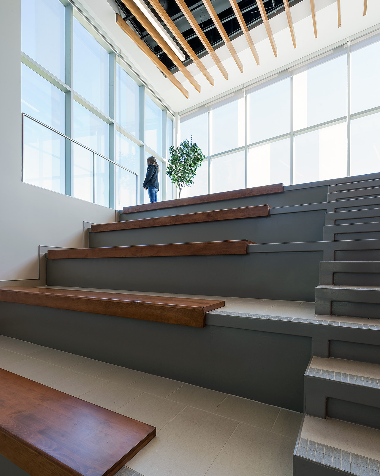 Interior Stairs at Canadian Centre for Product Validation in London Ontario