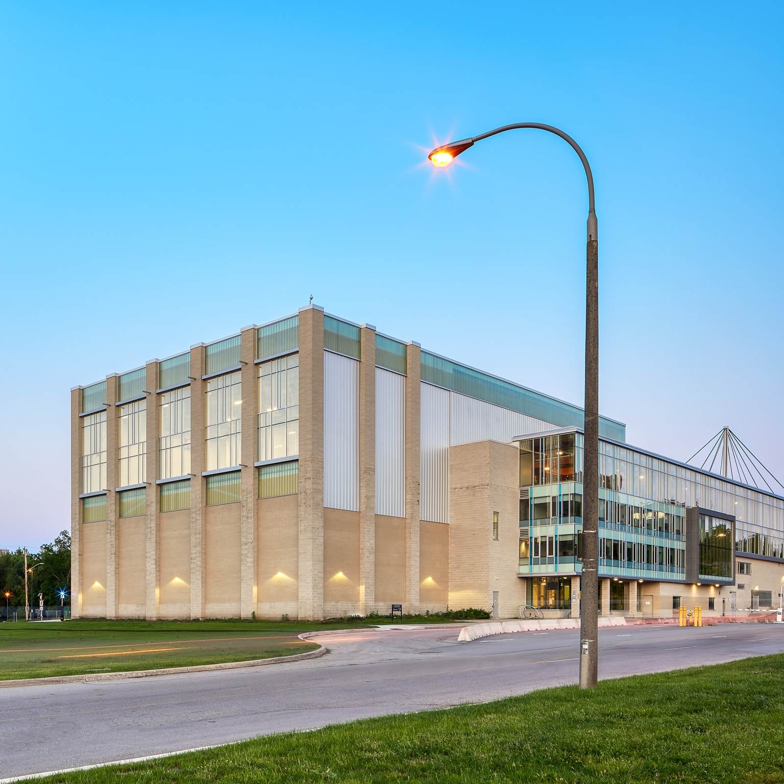 Showing new finished addition to the Western Student Recreation Centre